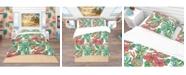 Design Art Designart 'Colorful Tropical Pattern' Tropical Duvet Cover Set - Queen