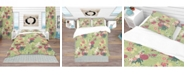 Design Art Designart 'Oriental Silk Pattern' Asian Duvet Cover Set - Twin
