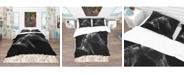 Design Art Designart 'Horse In Black Background' Southwestern Duvet Cover Set - King