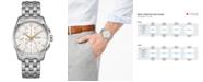 Hamilton Men's Swiss Automatic Chronograph Jazzmaster Stainless Steel Bracelet Watch 42mm