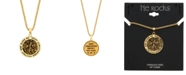 "He Rocks ""Saint Christopher"" Coin 24"" Pendant Necklace in Gold-Tone Stainless Steel"
