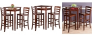 Winsome Halo 3-Piece Pub Table Set with 2 Ladder Back Stools
