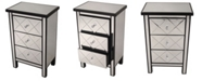 Heather Ann Creations Heather Ann Emmy Mirrored Accent Cabinet with 3 Drawers