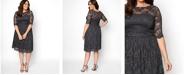 Kiyonna Women's Plus Size Luna Lace Dress