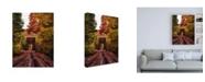 "Trademark Global Bruce Gett New England Train Trestle Bridge Canvas Art - 19.5"" x 26"""