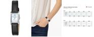 Citizen Women's Quartz Black Leather Strap Watch 18x22mm