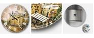 Designart Abstract Oversized Round Metal Wall Clock