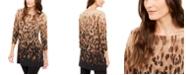 Alfani Printed 3/4-Sleeve Tunic, Created for Macy's