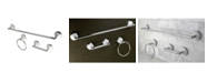 Kingston Brass Victorian 3-Pc.Towel Bar Bathroom Hardware Set in Polished Chrome