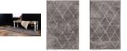 Bridgeport Home Filigree Shag Fil1 Dark Gray Area Rug Collection
