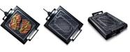 Granite Stone Diamond Titanium Non-Stick Coating Electric Indoor Smoke-less Grill