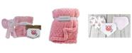 Amor Bebe 3 Stories Trading Plush Elephant Baby Blanket and Bibs Gift Set, 5 Piece