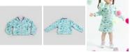 Kinderkind Girl's Scuba Printed Bomber Jacket