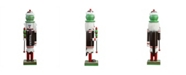 """Northlight 14"""" Decorative Brown Red and White TootsieRoll Wooden Christmas Nutcracker Figure"""