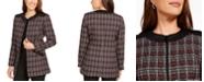 Kasper Plaid Zipper-Front Jacket