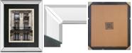 "Classy Art Balcon Parisien II by Tony Koukos Mirror Framed Print Wall Art, 34"" x 40"""