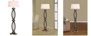 """Artiva USA Infinity Contemporary 61"""" Dark Walnut, Modern Floor Lamp"""