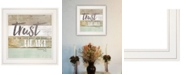 """Trendy Decor 4U Trust in the Lord by Marla Rae, Ready to hang Framed print, White Frame, 15"""" x 15"""""""