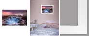 """Trendy Decor 4U Genesis by Moises Levy, Ready to hang Framed Print, White Frame, 21"""" x 15"""""""