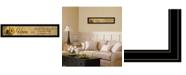 "Trendy Decor 4U Home ISE by Robin-Lee Vieira, Ready to hang Framed Print, Black Frame, 39"" x 9"""