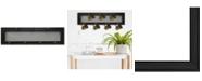 "Trendy Decor 4U 7-Peg Mug Rack by Millwork Engineering, Black Frame, 27"" x 8"""