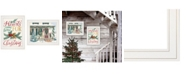 """Trendy Decor 4U Come Home for Christmas 2-Piece Vignette by Cindy Jacobs and Richard Cowdrey, White Frame, 15"""" x 19"""""""