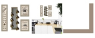 """Trendy Decor 4U Kitchen Collection VII 4-Piece Vignette with 7-Peg Mug Rack by Millwork Engineering, Taupe Frame, 10"""" x 32"""""""