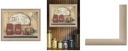 "Trendy Decor 4U Trendy Decor 4U CHERRY JAM by Pam Britton, Ready to hang Framed print, Taupe Frame, 17"" x 14"""