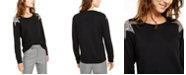 INC International Concepts INC Star-Shoulder Sweatshirt, Created for Macy's