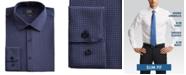 Jones New York Men's Slim-Fit Performance Stretch Cooling Tech Navy/Lavender/White Diamond Dot-Print Dress Shirt