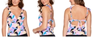 Salt + Cove Juniors' Kaleidoscope Push-Up Tankini Top, Created for Macy's
