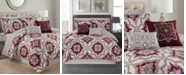 Olivia Gray Ashland 9-Piece Printed Reversible King Comforter Set