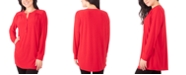 NY Collection Petite Henley Top