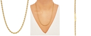 """Giani Bernini Rope Link 22"""" Chain Necklace in 18k Gold-Plated Sterling Silver"""