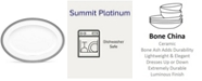 "Noritake Summit Platinum Oval Platter, 16"""