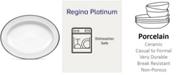 "Noritake Regina Platinum Oval Platter, 16"""