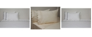 Belle Epoque 300 TC Scalloped Embroidered Sheet Set, Twin