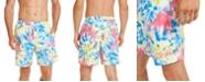 """Calvin Klein Men's Logo 7"""" Tie-Dye Swim Trunks, Created for Macy's"""