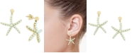 EFFY Collection EFFY® Cultured Freshwater Pearl (2 & 3mm) Starfish Drop Earrings in 14k Gold