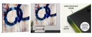 "GreatBigCanvas 'Lapis Rings I' Canvas Wall Art, 16"" x 16"""