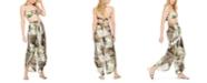 Bar III Jungle Moon Printed Tulip-Hem Pants, Created for Macy's