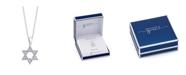 Unwritten Gratitude & Grace Silver Plated Cubic Zirconia Star of David Pendant Necklace