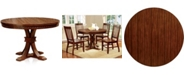 Furniture of America Tackman Solid Wood Round Table