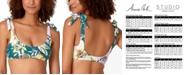 Anne Cole STUDIO Printed Scoop-Neck Shoulder-Tie Bikini Top