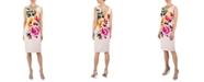 Donna Ricco Floral Scuba Sheath Dress