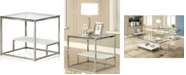 Furniture of America Nadia Glass Top End Table