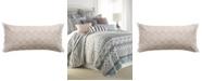 """Levtex Addie 12"""" x 24"""" Embroidered Fringe Decorative Pillow"""