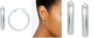 Giani Bernini Small Polished Hoop Earrings in Sterling Silver, 25mm, Created for Macy's