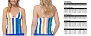Raisins Juniors' Beach Please Anya Striped Tankini Top