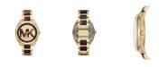 Michael Kors Women's Janelle Three-Hand Two-Tone Stainless Steel Bracelet Watch 42mm MK7136